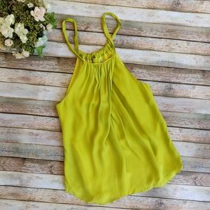 Trina Turk Bright Yellow Silky Top